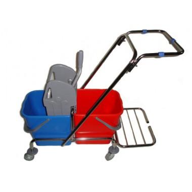 Wózek z uchwytem na worek 2x15L